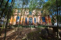 здание стиля minguo в малом бамбуковом лесе Стоковые Изображения