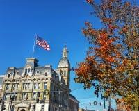 Здание суда Вустера в осени Стоковое Фото