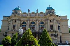 Здание театра в Краков, Польши Juliusz Slowacki стоковое фото rf