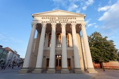 Здание театра в Subotica, Сербии стоковые фотографии rf