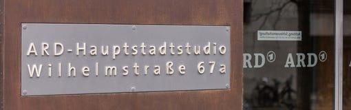 Здание телевизионной станции Ard в Берлине Германии стоковое фото