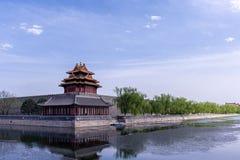 Здание угла запретного города Пекин стоковая фотография rf