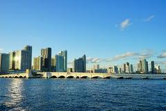 Здание фронта воды пляжа Майами южное Стоковое фото RF