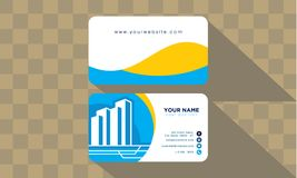 Здание шаблона визитной карточки и имущественное агентство недвижимости иллюстрация штока