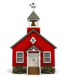 здание школы красного цвета фасада Стоковое Изображение