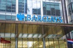 Здание Barclays, канереечный причал стоковые фотографии rf