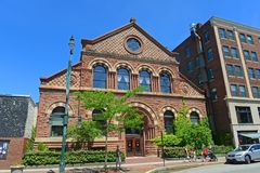Здание Baxter на улице конгресса, Портленде, Мейне, США стоковое изображение