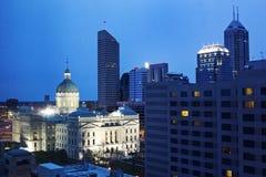 Здание Capitiol положения в городском Индианаполис стоковое изображение
