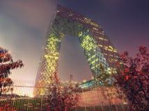 Здание CCTV Пекина стоковое фото