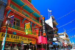 здание chinatown francisco oriental san Стоковые Фото