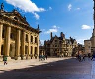 Здание Clarendon в Оксфорде в красивом летнем дне, Оксфордшире, Англии, Великобритании Стоковые Изображения