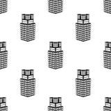 здание 3d значка университета Элемент значка здания 3d для передвижных apps концепции и сети Buildi 3d повторения картины безшовн иллюстрация штока