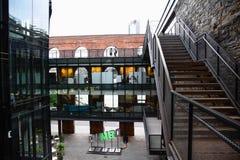 Здание DUMBO в Бруклине, Нью-Йорке стоковое изображение rf