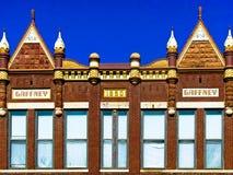 Здание Gaffney, 1890, викторианская коммерчески архитектура стоковые фотографии rf