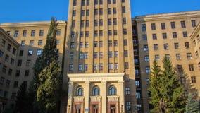 Здание hyperlapse timelapse университета Karazin Харькова национального видеоматериал