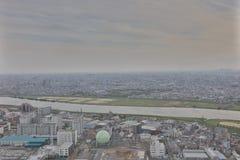 здание Ichikawa историческое обозревает Стоковое Изображение