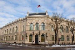 Здание Latvijas Banka Latvijas Banka центральный банк Латвии Стоковые Фото