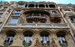 Здание Lavirotte, Париж, Франция Стоковая Фотография