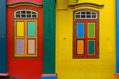 Здание Tan Teng Niah, фасад китайских вилл в меньшей Индии, Сингапуре стоковое изображение rf
