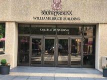 Здание Williams Brice на кампусе университета Южной Каролины стоковое изображение rf