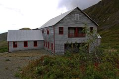 Здания восстанавливали в некоторых районах шахты стоковое изображение rf