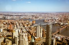 Здания в городском пейзаже Нью-Йорка Стоковое Изображение