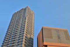 здания в жилом на западном kowloon стоковая фотография