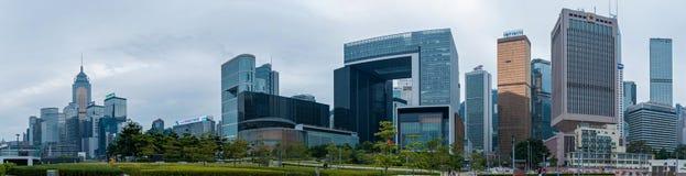 Здания Гонконга корпоративные стоковое изображение