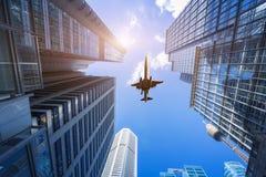 Здания и воздушные судн города Сиднея стоковые изображения