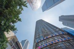 Здания и небоскребы в районе Чунцине Yuzhong Стоковое Изображение RF