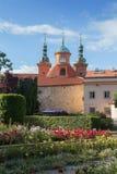 Здания и сад на Vysehrad в Праге Стоковые Фотографии RF