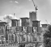 Здания Лондона от моста Vauxhall Стоковое Фото
