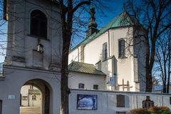 Здания монастыря в городе Radomsko в центральной Польше Стоковые Фотографии RF