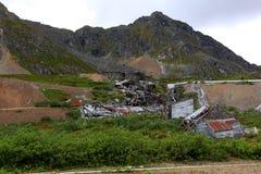 Здания почти ухудшали до неузнаваемости стоковое изображение rf