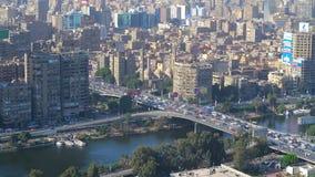 Здания современной Гизы, Каира сток-видео