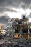 здания сокрушенные отчасти Стоковая Фотография