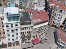 Здания Стамбула западной части увиденной высокорослой одной Турцией Стоковое Фото