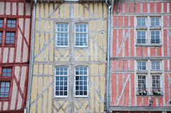 здания Франция средневековый troyes Стоковое Фото