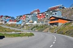 здания цветастая Гренландия расквартировывают qaqortoq стоковое изображение