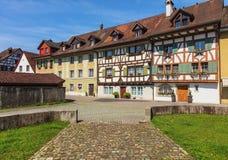 Здания швейцарского городка Bremgarten Стоковая Фотография RF