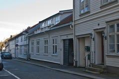 здания halden старое деревянное Стоковая Фотография