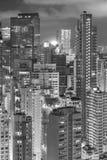 Здания Highrise в городе Гонконга Стоковое Изображение RF