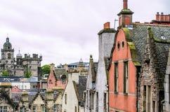 Здания Medieival в старой части Эдинбурга, Шотландии стоковая фотография rf
