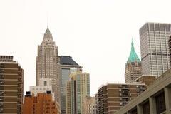 Здания Wall Street, NYC стоковые фотографии rf