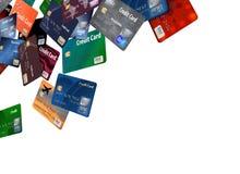 Здесь большая группа в составе кредитные карточки которые кажется, что плавают или лететь бесплатная иллюстрация