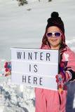 здесь зима стоковые изображения
