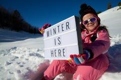 здесь зима стоковые фотографии rf