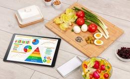 Здоровая еда, витамины, dieting концепция Стоковое фото RF