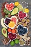 Здоровая еда для уменьшения стресса и тревожности стоковое изображение rf