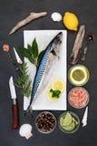 Здоровая еда скумбрии Стоковые Изображения RF